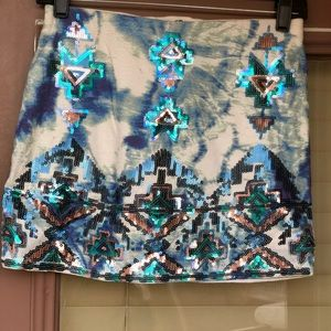 Express mini Aztec skirt